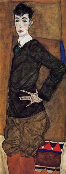 Portrait of Erich Lederer, 1912 - Egon Schiele
