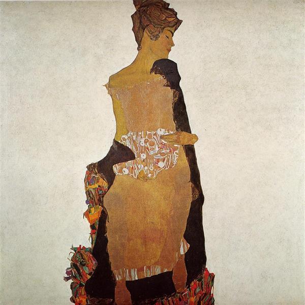 Portrait of Gerti Schiele, 1909 - Egon Schiele
