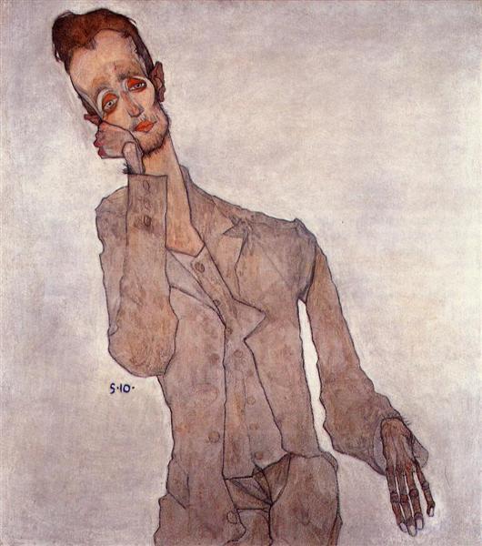 Portrait of Karl Zakovsek, 1910 - Egon Schiele