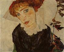 Portrait of Valerie Neuzil - Эгон Шиле