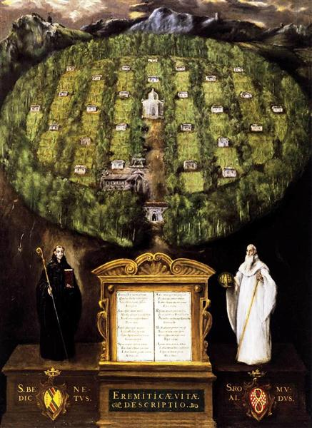 Allegory of Camaldolese Order, 1599 - 1600 - El Greco