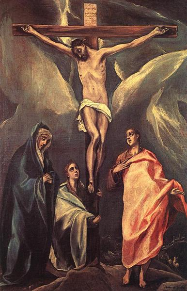Christ on the cross with two Maries and St. John, 1588 - El Greco