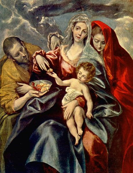 Holy Family, 1592 - El Greco
