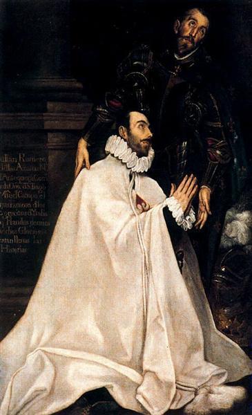Julian Romero de las Azanas and his patron St. Julian, c.1590 - El Greco