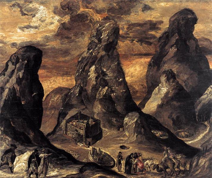 Mount Sinai, 1570 - El Greco