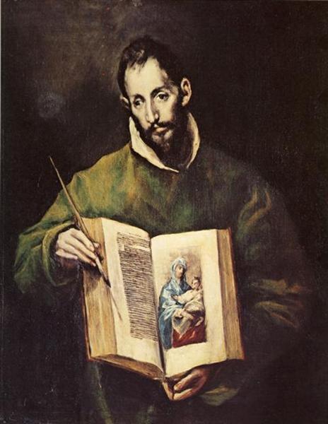 Download St. Luke, c.1605 - El Greco - WikiArt.org
