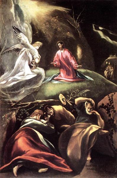 The Agony in the Garden, 1608 - El Greco