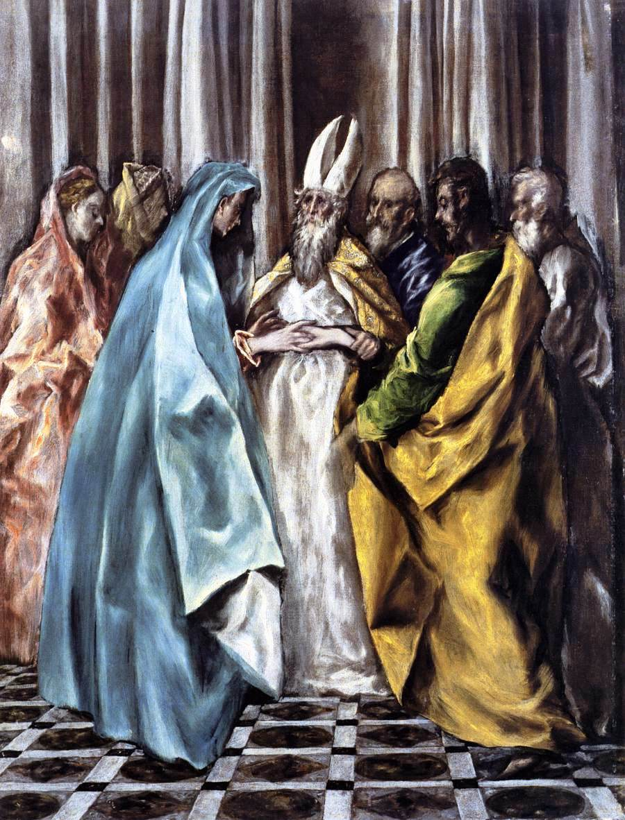Matrimonio In Greco : The marriage of virgin c el greco wikiart