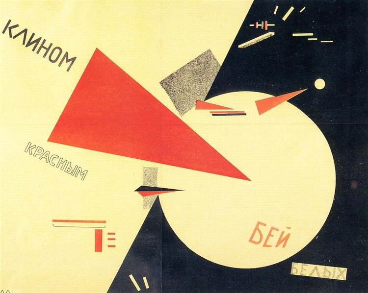 Beat the Whites with the Red Wedge, 1920 - El Lissitzky