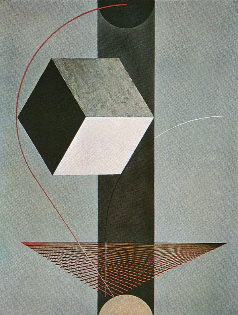 Proun 99 - El Lissitzky - WikiArt.org - encyclopedia of ...