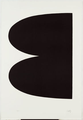 Black from Suite of Twenty-Seven Color Lithographs, 1964 - Ellsworth Kelly