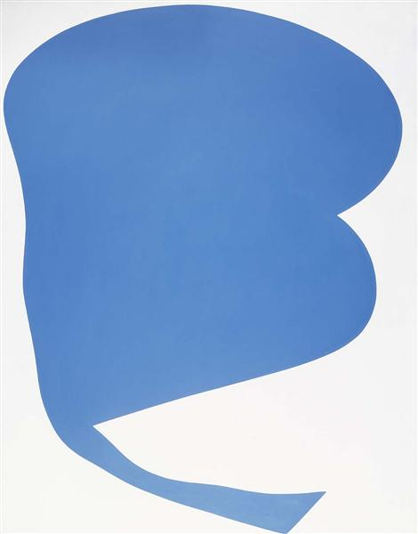 Blue on White - Ellsworth Kelly