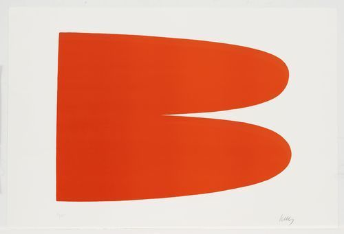 Red-Orange from the Suite of Twenty-Seven Color Lithographs, 1964 - Ellsworth Kelly