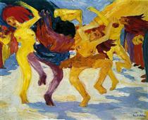 Dance Around the Golden Calf - Emil Nolde