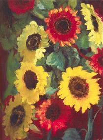 Sunflowers - Emil Nolde