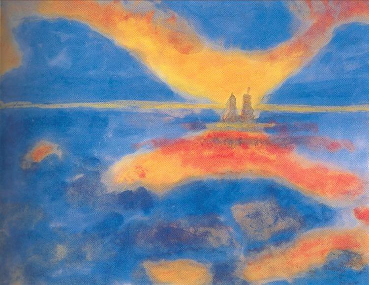 Sunrise at the sea, 1927 - Emil Nolde