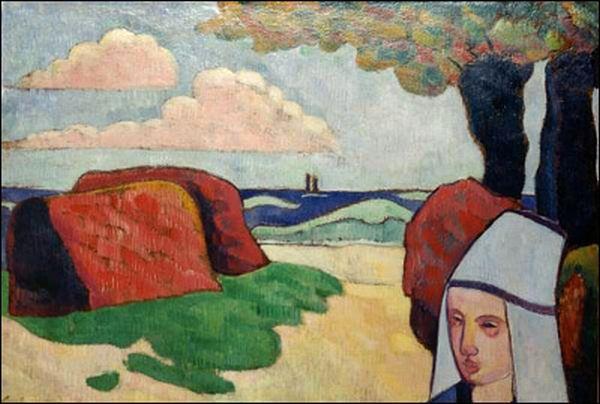 Breton Woman at Haystacks, 1890 - Émile Bernard