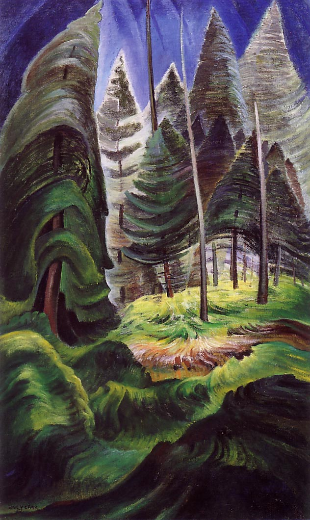 A Rushing Sea Of Undergrowth 1935 Emily Carr Wikiart Org