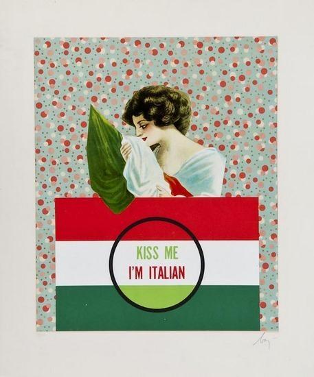 Kiss Me I'm Italian, 1972 - Enrico Baj