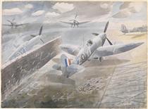 Spitfires at Sawbridgeworth, Herts 1942 - Eric Ravilious