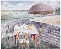 Tea at Furlongs - Eric Ravilious