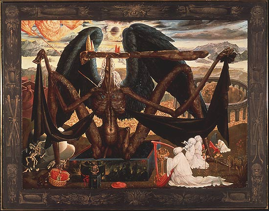 THE ANGEL OF DEATH OVER THE GATE TO PURGATORY, 1956 - Ernst Fuchs