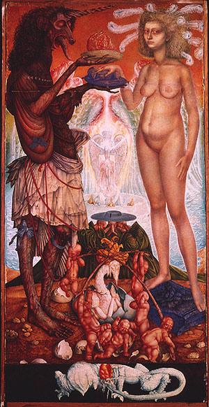 THE WEDDING OF THE UNICHORN, 1960 - Ernst Fuchs