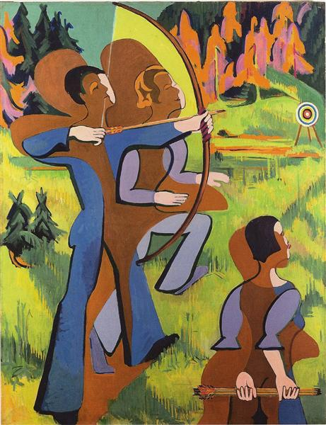Archers, 1935 - 1937 - Ernst Ludwig Kirchner