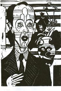 Portrait of Dr. Huggler - Ernst Ludwig Kirchner
