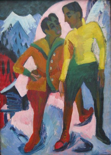 Two Brothers, 1921 - Ernst Ludwig Kirchner