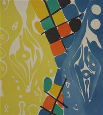Farblitho 1966 - 21 (NOR) - Эрнст Вильгельм Най