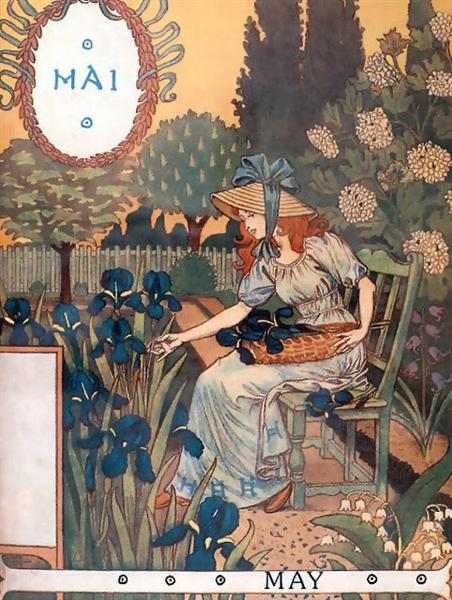 La Belle Jardiniere – May, 1896 - Eugène Grasset