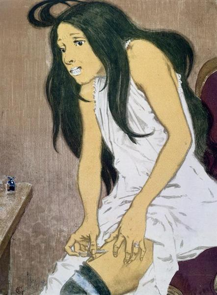 La Morphiniste, 1897 - Eugène Grasset