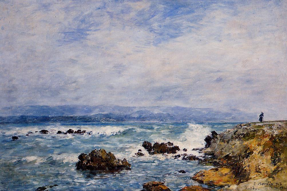 antibes the point of the islet eugene boudin. Black Bedroom Furniture Sets. Home Design Ideas