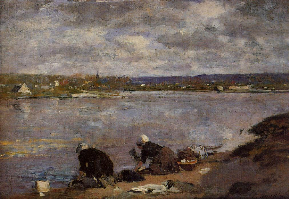 Laundresses on the Banks of the Touques, 1883