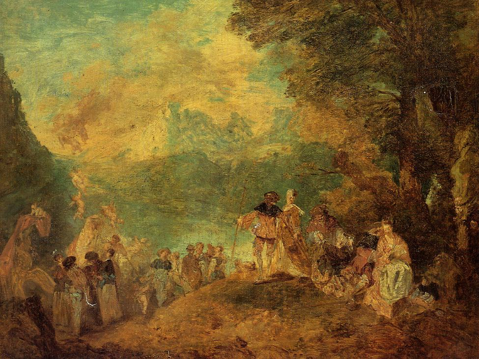 The Pilgrimage to Cythera  after Watteau Return From Cythera By Antoine Watteau