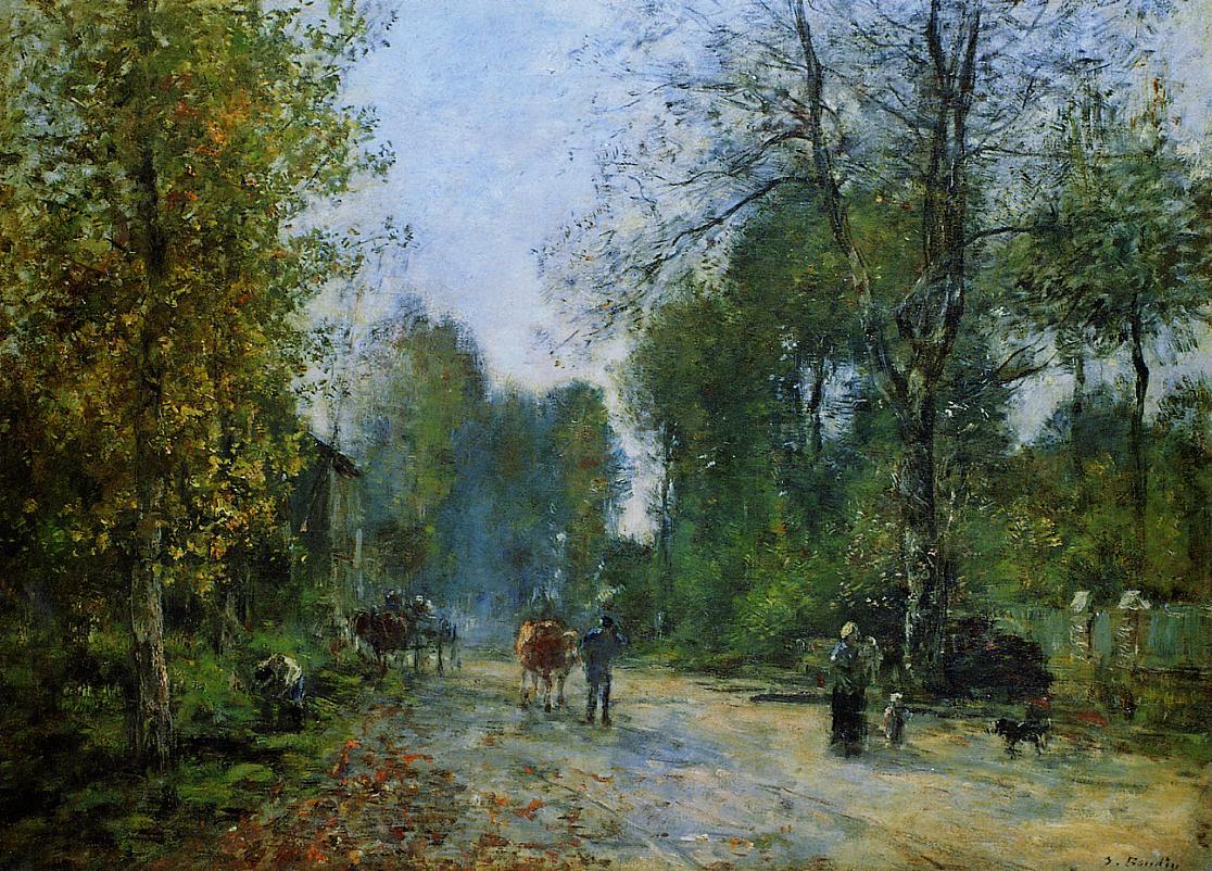 Trouville, Le Chemin de la Corderie, 1878