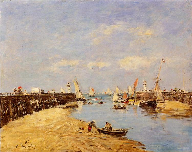 Trouville, the Jetty and the Basin, 1896 - Eugene Boudin