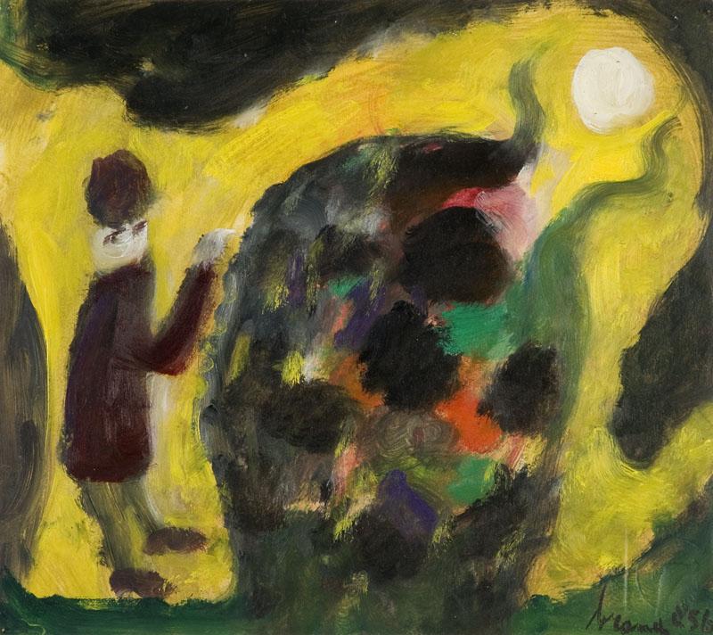In het maanverlichte park, 1956