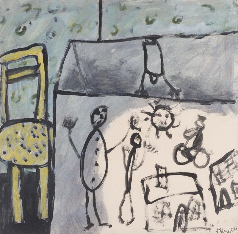Kist met kindertekeningen, 1958