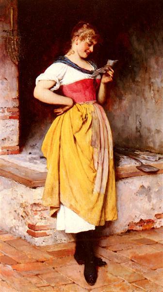 Good News, 1887 - Eugene de Blaas