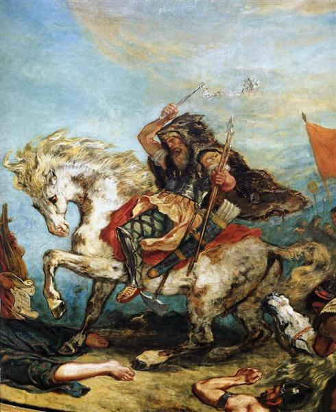 Attila the Hun - Delacroix Eugene