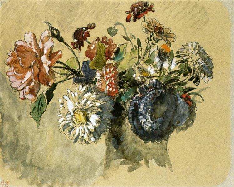 Bouquet of Flowers, 1843 - Eugene Delacroix