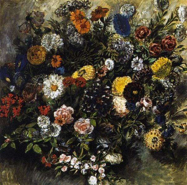 Bouquet of Flowers, 1849 - 1850 - Eugene Delacroix