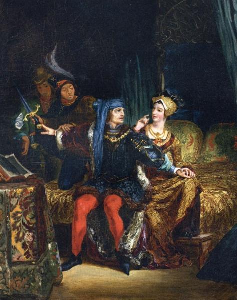 Charles VI and Odette de Champdivers, 1824 - 1826 - Eugene Delacroix