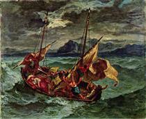 Cristo sul mare di Galilea - Eugene Delacroix