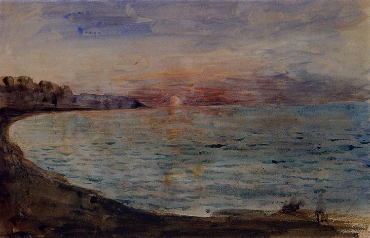 Cliffs near Dieppe, 1852 - 1855 - Eugene Delacroix