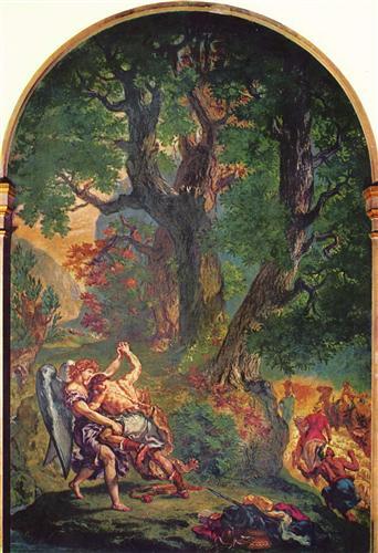Борьба Иакова с ангелом - Эжен Делакруа