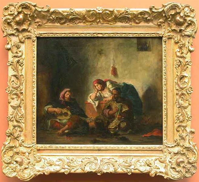Jewish musicians in Morocco, 1847 - Eugene Delacroix