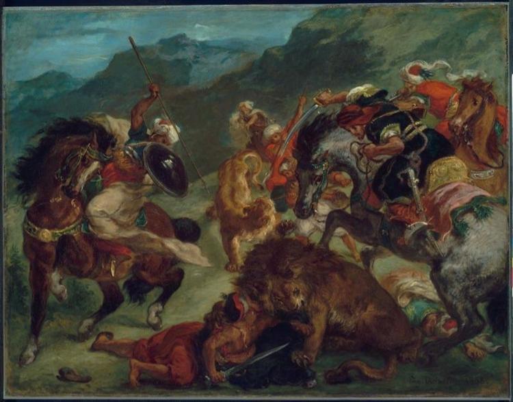 Lion Hunt, 1858 - Eugene Delacroix